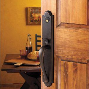 baldwin black wood handle