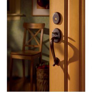 Baldwin brown door handle