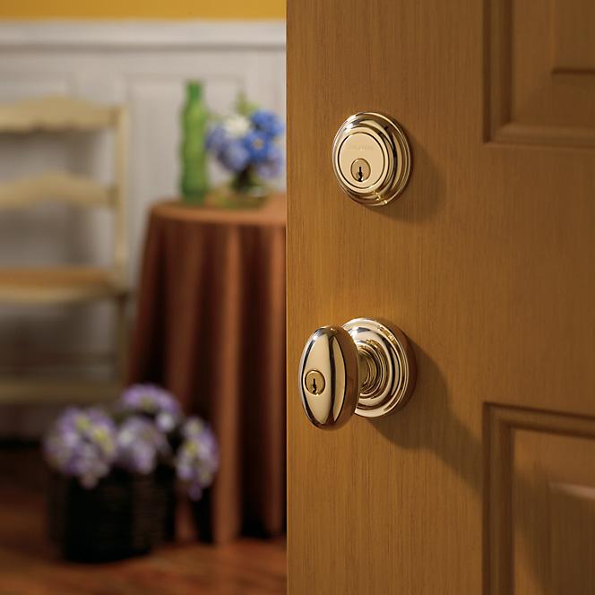 Baldwin gold door knob
