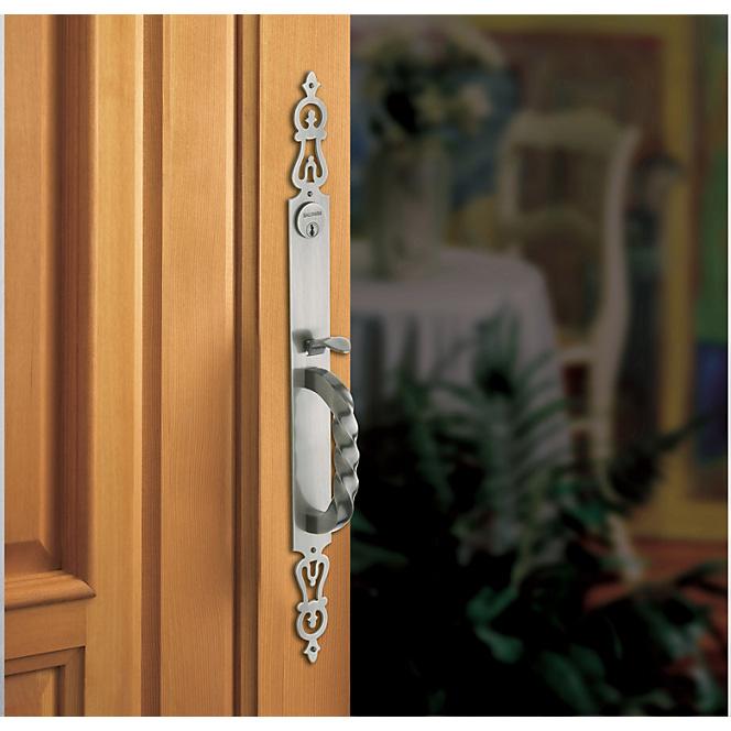 Baldwin silver door handle