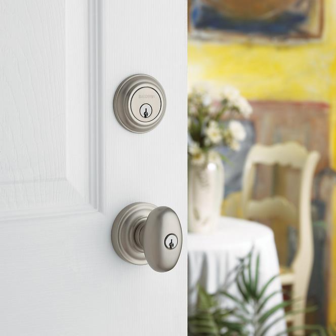 Baldwin white door handle