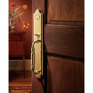 Baldwin wood door handle