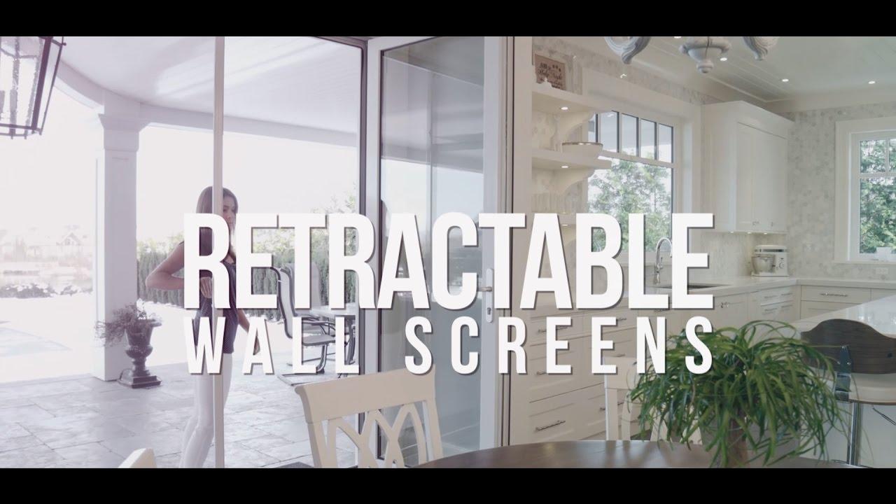 Retractable Wall Screens by Phantom Screens