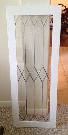 Simulated Leaded Glass on White Casement