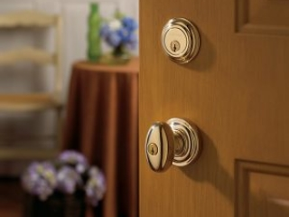 Baldwin gold door knob