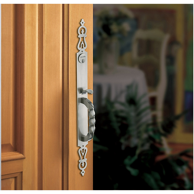 Baldwin silver door handle