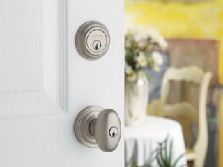 Baldwin white door handle