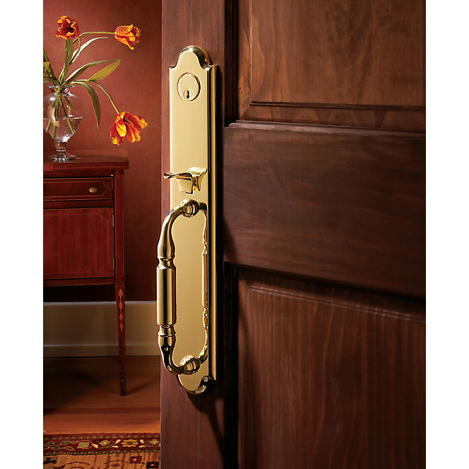 Baldwin wood door handle